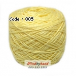 ไหมเบบี้ซิลค์ (ฺBaby Silk) รหัสสี 005 สีเหลืองอ่อน