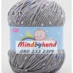 ไหมพรม Baby (ไหมพรมสำหรับเด็ก) มีจุดลาย สี 15 Gray