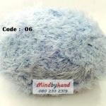 ไหมพรมปะการัง รหัสสี 06 สีฟ้าอ่อน