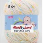 ไหมพรม Baby (ไหมพรมสำหรับเด็ก) มีจุดลาย สี 04 Creamy B