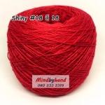 ไหม Shiny #18 รหัสสี 18 สีแดงสด