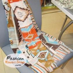 ผ้าพันคอแฟชั่นโบฮีเมียน Bohemian : สีน้ำตาล CK0317