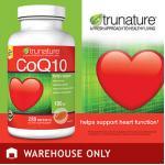 TruNature-CoQ10=100mg ขวด220เม็ด บำรุงหัวใจแข็งแรง,ชะลอความแก่,ถนอมสมอง, ผิวพรรณสวยงาม (หมด-มา3กค)