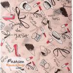ผ้าพันคอ ZARA ลายลิปสติก : สีชมพู CK0286-1