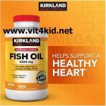FISH OIL 1000mg 400เม็ด=Omega3=300mg/เม็ด ลดไขมันในเลือด ดูแลหัวใจ/สมอง (สินค้ายอดนิยม exp.08/2020)