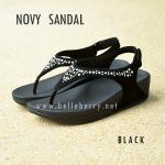 **พร้อมส่ง** FitFlop : NOVY SANDAL : Black : Size US 8 / EU 39