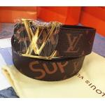 เข็มขัด Louis Vuitton ท็อปมิลเลอร์ 1:1 สายน้ำตาลกว้าง 1.5นิ้ว หัวทอง