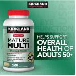 MATURE MULTI วิตามินรวมวัยทอง50ปีขึ้นไป 400 เม็ด เสริมสารอาหารให้สมวัย ลดความเสื่อมของสุขภาพ มีCALCIUM+ลูทีน(สายตา)+ไลโคปีน(มะเขือเทศ) exp.10/2019