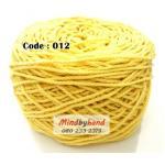 เชือกฟอก สีพื้น รหัสสี 012 สีเหลือง
