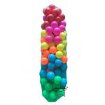 UT-5907 ลูกบอลพลาสติก หลากสี 100 ลูก สีหวาน