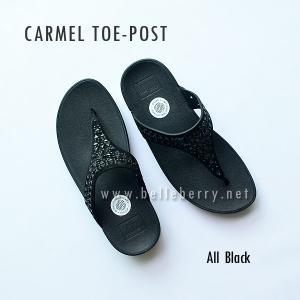**พร้อมส่ง** FitFlop : CARMEL Toe-Post : All Black : Size US 9 / EU 41
