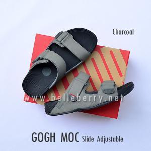 * NEW * FitFlop Men's : GOGH MOC Slide : Charcoal : Size US 8 / EU 41