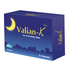 Valian X แผง 10 เม็ด ช่วยคลายความกังวล ลดความเครียด ทำให้หลับสบาย