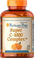 Puritan's Pride C-1000 Complex™ 1000 mg / 250 Coated Caplets / Item #003143