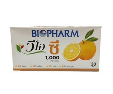 Vio C 1000 mg. Biopharm เม็ดฟู่ชงน้ำดื่ม รสส้ม 30 เม็ด