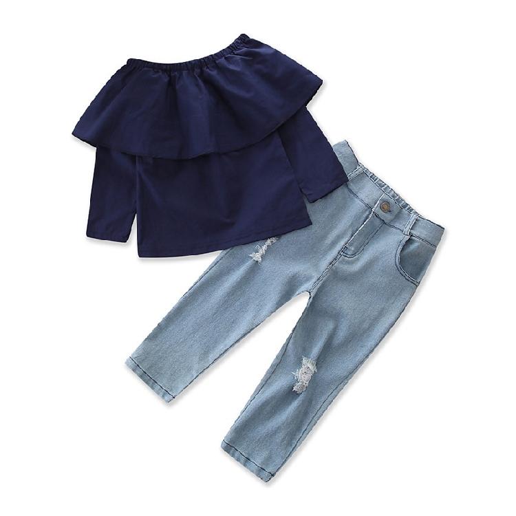 km2976 เสื้อ+กางเกง size 2T-7T 6 ตัวต่อแพ็ค