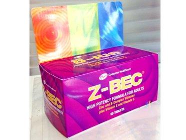 Z-BEC 60 เม็ด บำรุงสุขภาพท่านชาย ช่วยเพิ่มจำนวนอสุจิได้มากขึ้น เสริมสร้างภูมิต้านทานร่างกาย