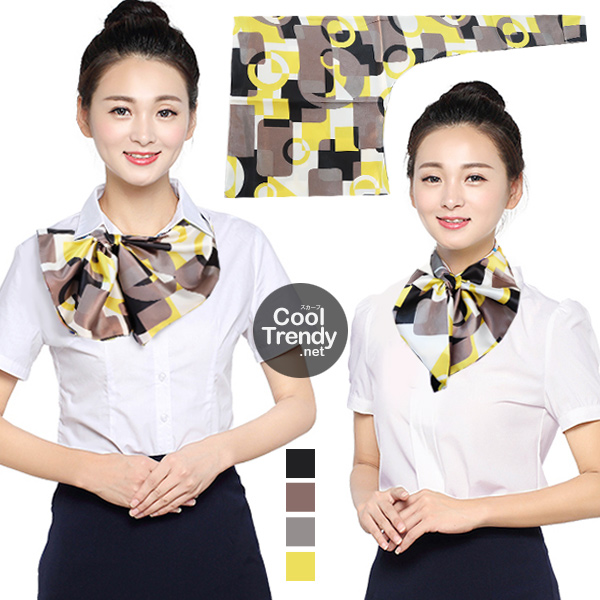 ผ้าพันคอสำเร็จรูป ผ้ายูนิฟอร์ม uniform ผ้าไหมซาติน : L59