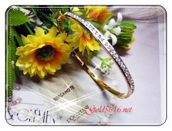 กำไลเพชรฝังล็อค gold plated 5microns/white gold plated