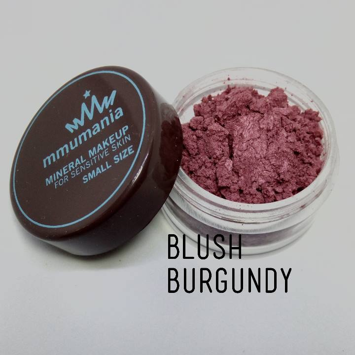 ขนาดจัดชุด MMUMANIA Premium Blush สี Burgundy