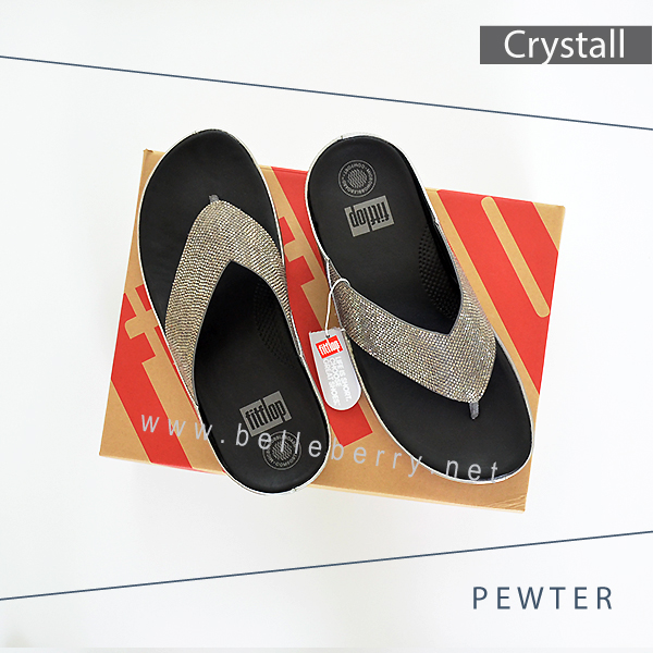FitFlop : CRYSTALL : Pewter : Size US 9 / EU 41
