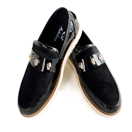 รองเท้าผู้ชาย   รองเท้าแฟชั่นชาย รองเท้าหนังแก้ว แฟชั่นเกาหลี