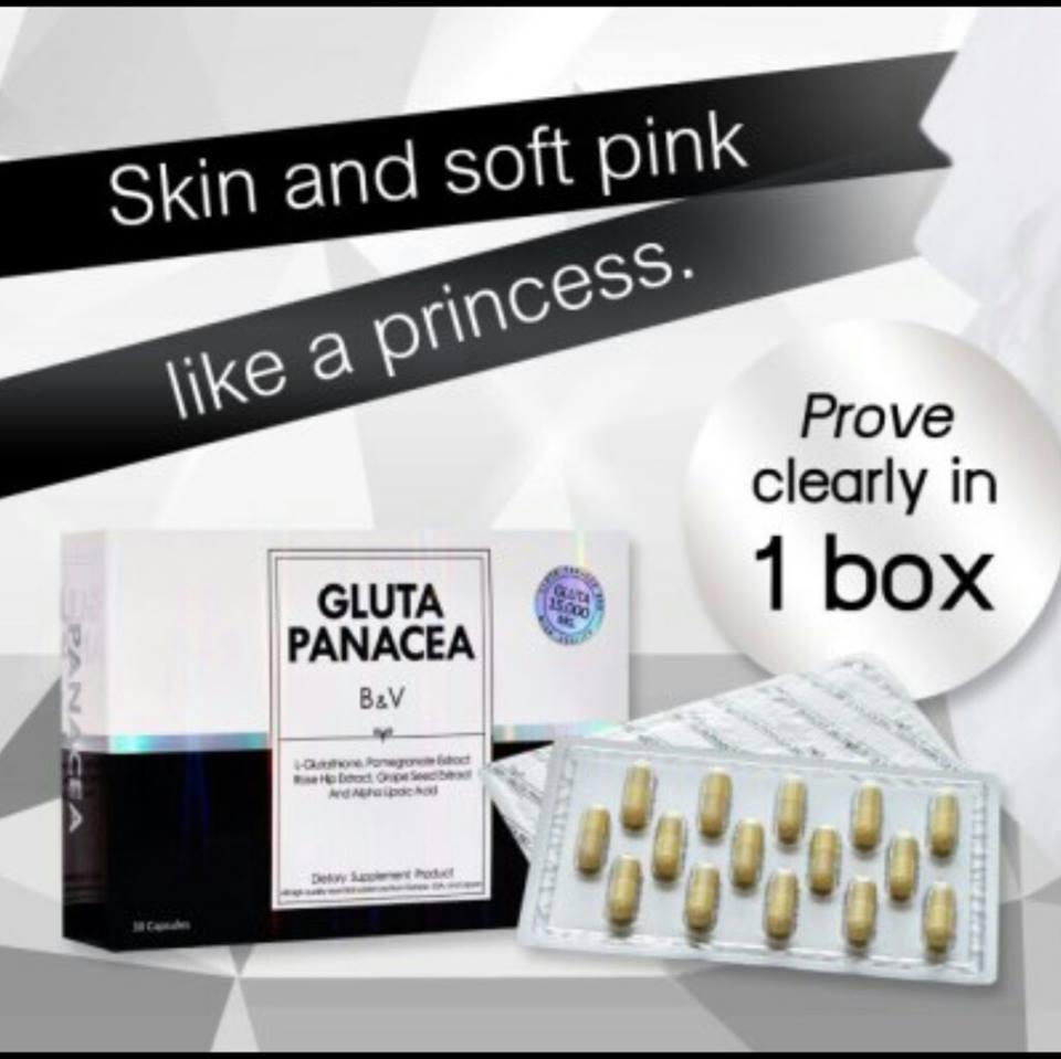 PANACEA Glutathione 15,000 mg. รวมสารสกัด 19 ชนิด ใน 1 แคปซูล