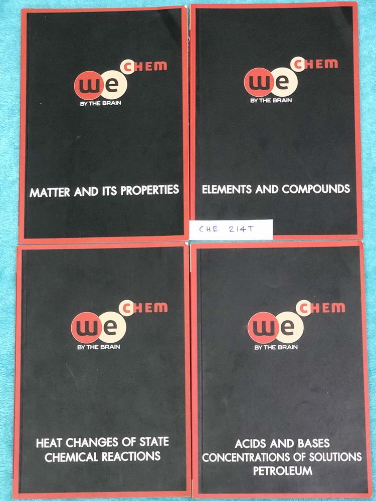 ►วีเบรน◄ CHE 214T หนังสือกวดวิชา เคมีม.ต้น ครบเซ็ท 4 เล่ม สรุปเนื้อหาสาระสำคัญ พร้อมโจทย์แบบฝึกหัดประจำบท เนื้อหาครอบคลุมตั้งแต่ระดับชั้น ม.1-3 จดเกินครึ่งเล่ม จดละเอียดทั้งเซ็ท แบบฝึกหัดมีจดเฉลยบางข้อ อาจารย์สอนเนื้อหาเพิ่มเติมเกินหลักสูตร เพื่อใช้สอบเข้