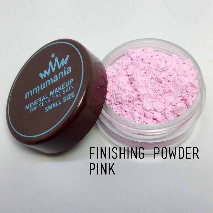 ขนาดจัดชุด MMUMANIA Mineral Makeup : FINISHING POWDER แป้งฝุ่นคุมมัน มิเนอรัล สีชมพู