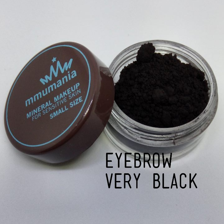 ขนาดจัดชุด MMUMANIA Mineral Makeup Eyebrow สี Very Black