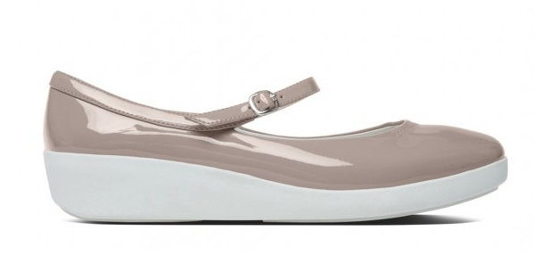 (Pre-order) FitFlop Dusty Pink Patent Leather F Pop Mary Jane Shoes
