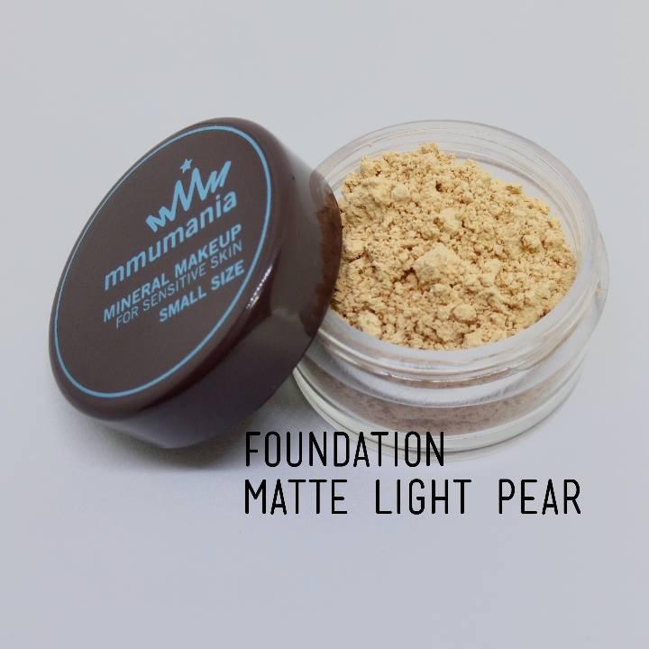ขนาดจัดชุด MMUMANIA Matte Foundation รองพื้นสูตรควบคุมความมัน สี Light Pear ผิวขาวเหลือง