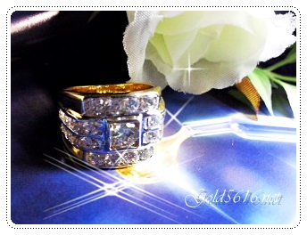 แหวนเพชร gold plated 5microns/white gold plated