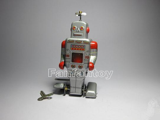หุ่นยนต์สังกะสีไขลาน Side Stepping Robot