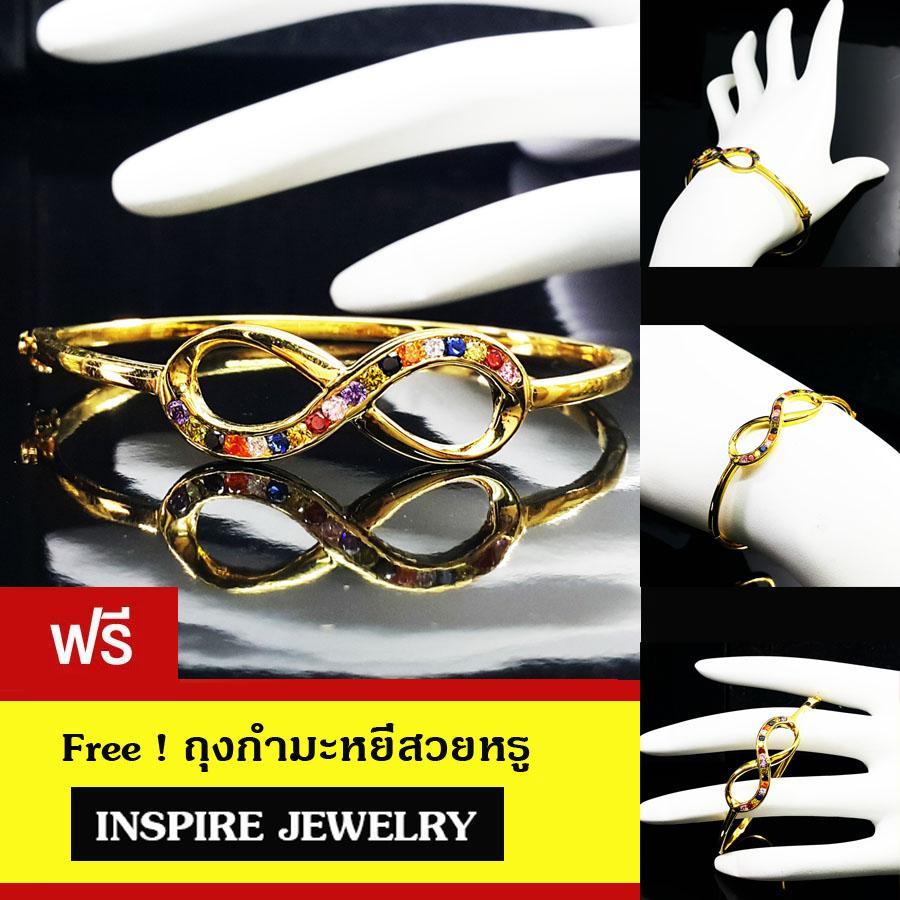inspire jewelry กำไลนพเก้า อินฟินีตี้ infinity พลอยนพเก้า