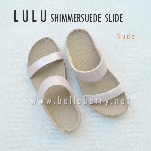 **พร้อมส่ง** FitFlop Lulu Shimmersuede Slide : Nude : Size US 6 / EU 37