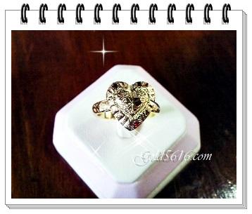 แหวนหัวใจทอง gold plated 2microns