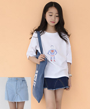 mu07 กางเกงกระโปรง 3 ตัวต่อแพ็ค เด็กโต size 140-160