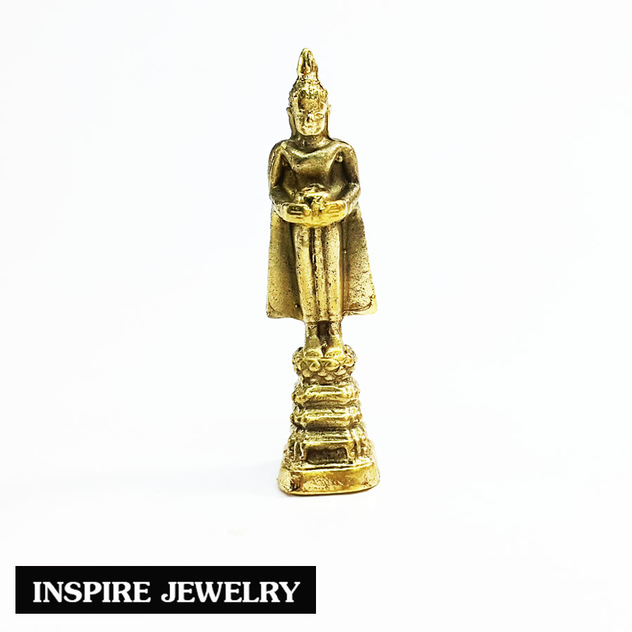 Inspire Jewelry Clever Monk พระ ประจำวันพุธกลางวัน (ปางอุ้มบาตร) ทองเหลือง