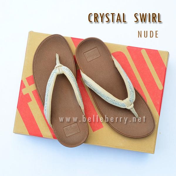 **พร้อมส่ง** FitFlop : CRYSTAL SWIRL : Nude : Size US 6 / EU 37