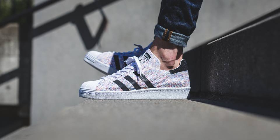 (Pre order) ADIDAS SUPERSTAR 80S PRIMEKNIT SHOES (S75845)