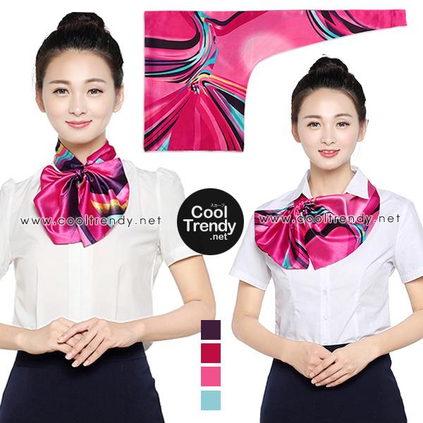 ผ้าพันคอสำเร็จรูป ผ้ายูนิฟอร์ม uniform ผ้าไหมซาติน : L05