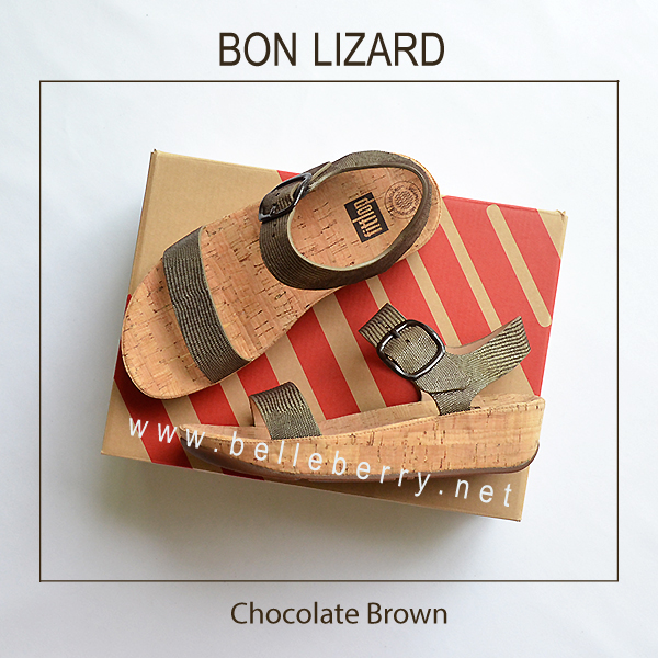 รองเท้า FitFlop BON LIZARD : Chocolate Brown : Size US 6 / EU 37