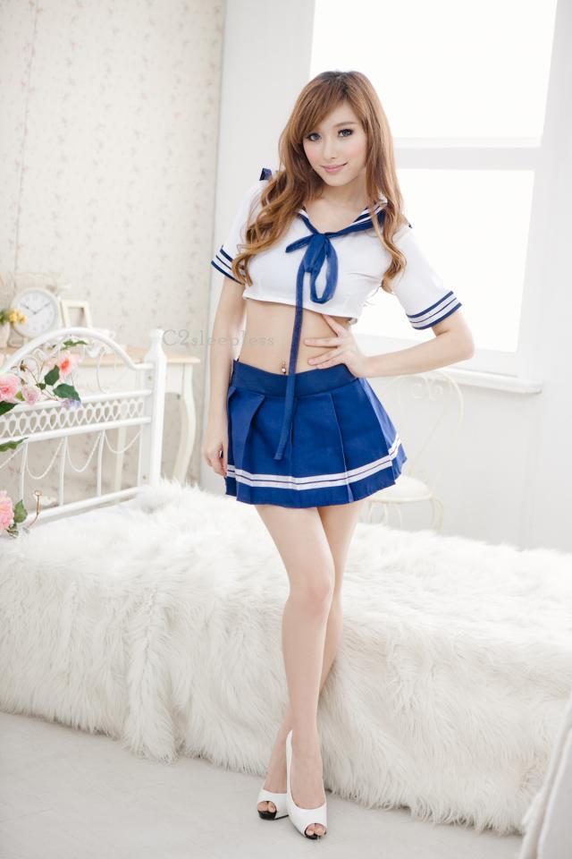 ชุดนอนซีทรูคอสเพลย์นักเรียนสาวสวยญี่ปุ่นยูนิฟอร์มนักเรียนพร้อมส่งผ้าดีมาก