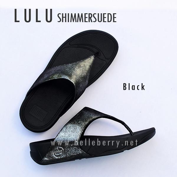FitFlop LULU Shimmersuede : Black : Size US 7 / EU 38