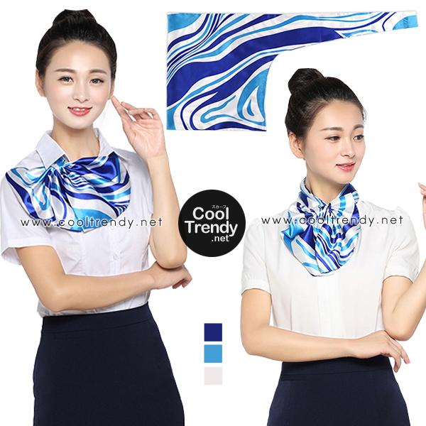 ผ้าพันคอสำเร็จรูป ผ้ายูนิฟอร์ม uniform ผ้าไหมซาติน : L10