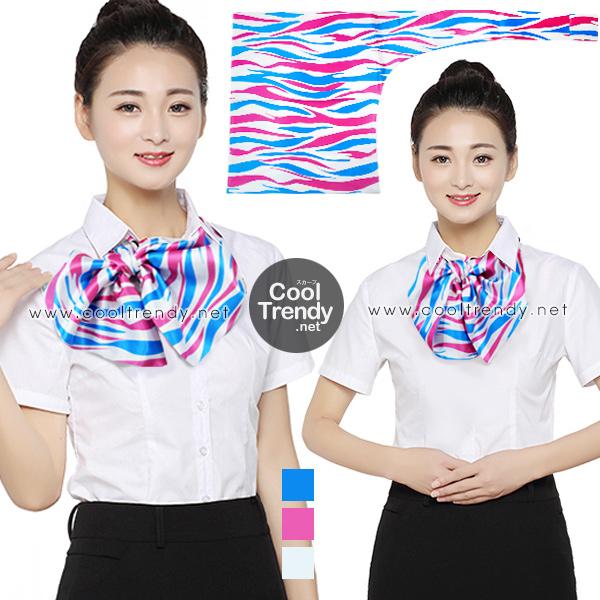 ผ้าพันคอสำเร็จรูป ผ้ายูนิฟอร์ม uniform ผ้าไหมซาติน : L35