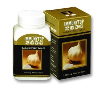 Khaolaor Immunytop Garlic Extract Powder 100 Capsule กระเทียมสกัดชนิดแคปซูล อิมมิวนีท้อป