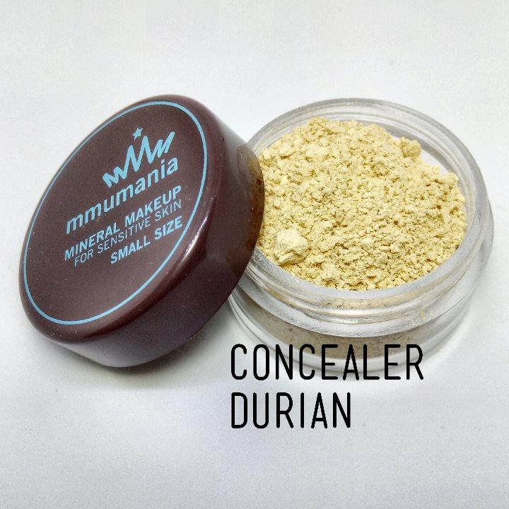 ขนาดจัดชุด MMUMANIA mineral makeup CONCEALER มิเนอรัล คอนซีลเลอร์ ทุเรียน สีเหลือง