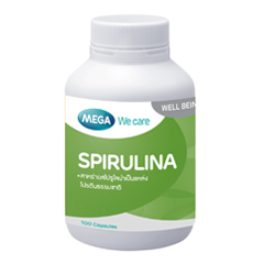 สาหร่าย Spirulina 100 แคปซูล อาหารสมอง ช่วยให้ความจำดีขึ้น ลดโคเลสเตอรอล ดูอ่อนเยาว์ ช่วยลดความเครียด